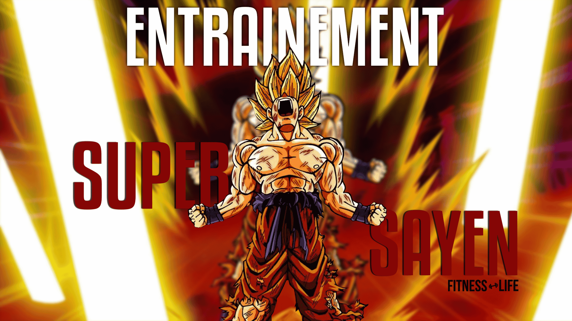 Musculation entrainement super saiyan for Portefeuille dragon ball z