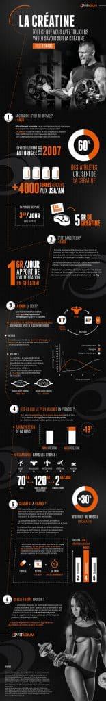 Infographie sur la créatine de chez fitafium