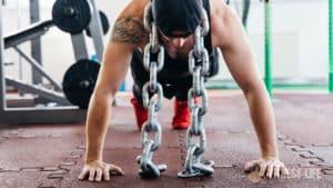 Pompe prise large exercice de musculation